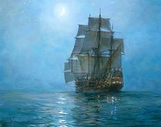 Love ships.. and painting...and ship paintings! || Montague Dawson