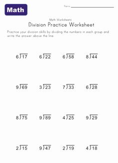 Worksheet Devision Kids 2018: division worksheet four with remainders stuff to buy in 2018 ,