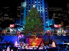 New York Rockefeller Center tree lighting