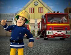 Tässä on Palomies Samin työpaikka: hieno paloasema. Kun hälytys tulee, Sami kiirehtii paloautolleen ja sitten lähdetään hälytysajossa auttamaan avun tarvitsijaa.