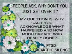 PTSD...people ask