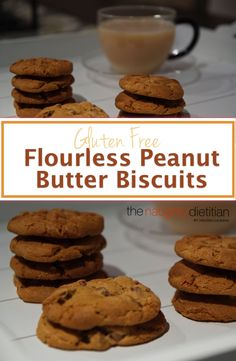 If you\'re looking for something quick to whip up before guests come over, these Flourless Peanut Butter Choc Chip Biscuits are the perfect treat. www.thenaughtydie... | peanut butter | chocolate | peanut butter biscuits | gluten free recipes | flourless cookie recipes | biscuit recipes | gluten free biscuits | gluten free cookies | peanut butter cookies | gluten free baking | how to make gluten free biscuits | how to make peanut butter biscuits | easy gluten free recipes