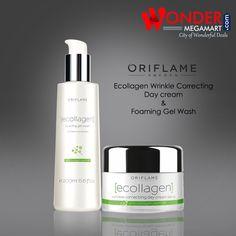 Buy #Oriflame Ecollagen Wrinkle Correcting Day #Cream & Foaming Gel Wash   Wondermegamart.com
