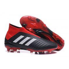 Botas De Futbol Outlet adidas Predator 18 FG Negras Rojas Blancas b7112bbd42dbb