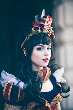 "steampunktendencies: ""Steampunk Snow White Cosplay : Tenkou Cosplay Photo : Carl Oscar Photography """