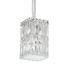 Schonbek 2251A Quantum 4 Light Mini Pendant in Polished Chrome with Swarovski Spectra Clear crystal