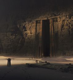 Ancient Tomb By Patryk Olkiewicz by Artwork Fantasy Concept Art, Fantasy Artwork, Dark Fantasy, Ancient Tomb, Ancient Art, Fantasy Places, Fantasy World, Environment Concept Art, Fantasy Landscape