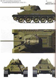 Советский средний танк Т-34-57 » Танки, САУ, Артиллерия, стрелковое оружие, минное оружие, авиация, инженерная техника сражавшихся сторон. Тайны Второй мировой войны.Битвы, сражения Второй мировой войны на WW2History.ru