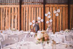 #barn #wedding #barn wedding #okanagan #barnreception #reception #marque #love #lace #chandeliers #parasols #bunting #rustic #barnwood #sweethearttable https://www.facebook.com/silversagestables