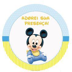 Mickey Baby – Kit festa infantil grátis para imprimir – Inspire sua Festa ®