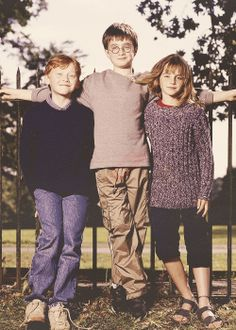 The trios are back together #HarryPotter #Hermione #Ron