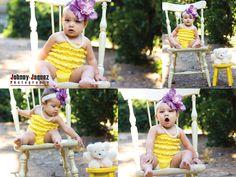 baby girl, photo shoot, orange grove, prospect park, yellow, vintage