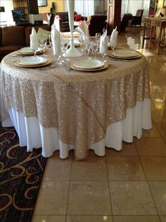 New wedding table linens navy reception ideas Ideas Wedding Tablecloths, Wedding Table Linens, Table Clothes For Wedding, Table Wedding, Beige Wedding, Wedding Colors, Trendy Wedding, Navy Champagne Wedding, Gold And Burgundy Wedding