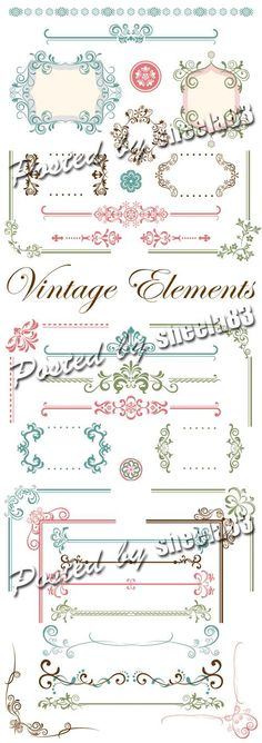 Vintage Design Elements Vector Photoshop, Vintage Designs, Design Elements, Notebook, Bullet Journal, Decorations, Elements Of Design, The Notebook, Exercise Book