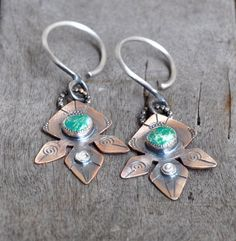 Fox Mine Turquoise Silver and Bronze Tribal by GaugedByStasia, $110.00