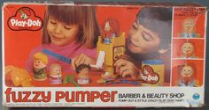 KENNER + PLAY-DOH: 1977 Fuzzy Pumper Barber and Beauty Shop #Vintage #Toys