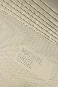 Matiere Grise by quattrolinee , via Behance