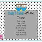 Daily Five Card Owl Themed - Jennifer Tice