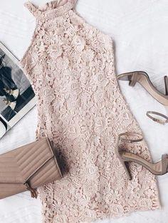 Pale Pink Lace Dress