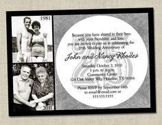 25th Wedding Anniversary Party Ideas   25th Anniversary Invitation Silver Wedding Anniversary Party Invite