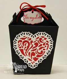 Our Daily Bread Designs Stamp Set: To My Favorite, Our Daily Bread Designs Custom Dies: Glorious Gable Box, Mini Label, Tulip Heart, Layering Hearts