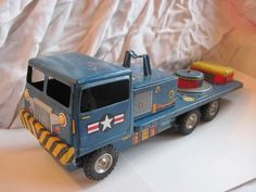 Vintage Tin Litho U s Army Friction Truck 1960's Line Mar Toy Made in Japan | eBay