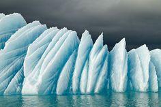 Ice and sea.