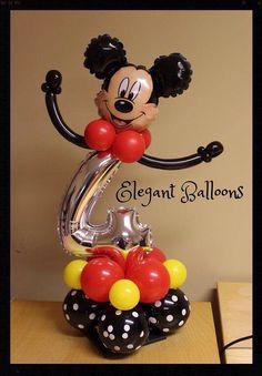 First Birthday -Children's themes — Elegant Balloons Mickey Mouse Birthday Decorations, Mickey Mouse Clubhouse Birthday, Mickey Birthday, Mickey Party, Birthday Balloons, Balloon Arrangements, Balloon Centerpieces, Balloon Decorations Party, Mickey E Minnie Mouse