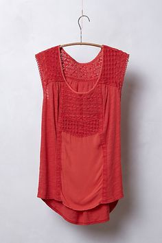 pieced lace top | anthropologie