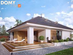 Decyma 7 projekt domu - Jesteśmy AUTOREM - DOMY w Stylu Tropical House Design, Simple House Design, Cool House Designs, Modern House Design, Casa Top, Modern Mediterranean Homes, Home Design 2017, Modern Properties, Model House Plan