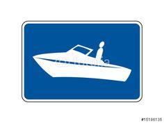 """Laden Sie den lizenzfreien Vektor """"Motorbootzone"""" zum günstigen Preis. Stöbern Sie in unserer Bilddatenbank (de.fotolia.com/...) und finden Sie schnell das perfekte Stockbild !"""