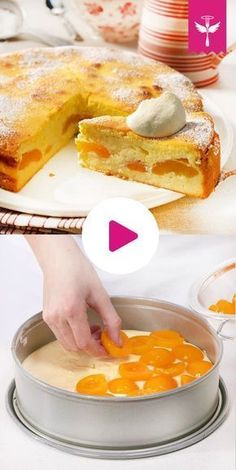 Bottomless cheesecake - how it Käsekuchen ohne Boden – so geht's Airy, light, tasty: We show you step by step how the perfect one succeed without bottom! Easy Cake Recipes, Sweet Recipes, Baking Recipes, Dessert Recipes, German Baking, Best Pancake Recipe, Recipe For 4, Base Recipe, No Bake Cake