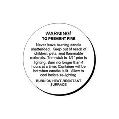 Candle Warning Labels 2 Inch Crafty Crafts Candle