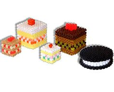 Cake and Cookies - lots of other perler bead project ideas too