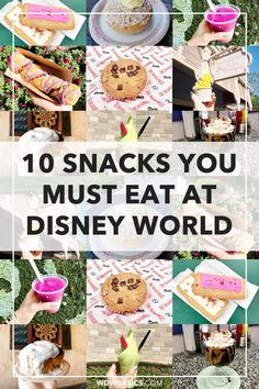10 Best Disney Snacks at Disney World // WDW Basics // Food is a highlight of a Disney World vacation for sure! These are my family's best Disney snacks, ones we enjoy on nearly every Disney World trip. PIN THIS and TAP TO SEE the 10 best Disney World snacks Disney Vacation Club, Walt Disney World Vacations, Florida Vacation, Disney World Food, Disney Snacks, Disney Fanatic, Adventures By Disney, Thing 1, Disney Tips