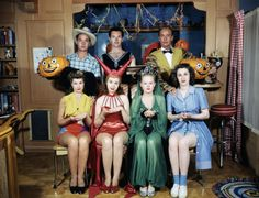 Halloween costumes, c. 1940's.