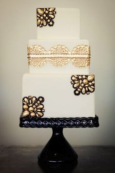 cake STAND make s a huge impact on the cake-thing pedestal, flat base square or round ornate etc-probably difficult to find a navy base and if you you picked a busy gold stand-then the cake needs to be quite simple/limited gold...
