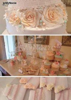 http://www.lemienozze.it/gallerie/torte-nuziali-foto/img32519.html Dessert table con torta nuziale in stile romantico