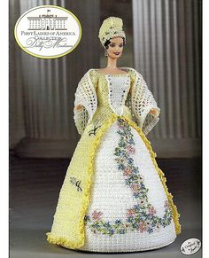 This series is a history lesson as well as a crochet pattern. There is a full page of biography for Dolly Madison included in this issue. Her