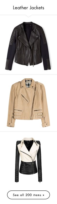Leather Jackets by darlingchick on Polyvore featuring polyvore, fashion, clothing, outerwear, jackets, coats, tops, moto jacket, real leather jacket, leather moto jacket, quilted jacket, biker jacket, leather jacket, camel, women, burberry jacket, camel leather jacket, genuine leather jacket, leather jackets, studded moto jacket, celine jacket, coats & jackets, jacken, jackets and blazers, black jacket, color block jacket, black cropped jacket, black, leather biker jacket, black fitted…