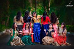 Hiya Reddy's Magnificent Half Saree Ceremony As Grand As A Wedding Funny Wedding Poses, Pre Wedding Poses, Wedding Couple Poses, Indian Wedding Bridesmaids, Bridesmaid Poses, Indian Wedding Photography Poses, Bride Photography, Photography Ideas, Wedding Outfits For Family Members