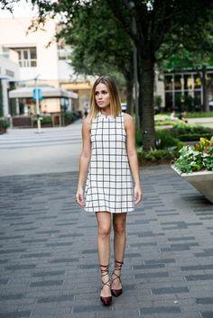Checkered Dress Outift
