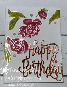 Springtime Foils Elegant Birthday This beautiful DSP paper is available in the 2018 Sale-A-Brations 2nd release. It is a sturdy and elegant paper. The beautiful copper & foil accents work wonderful on any card project.