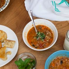 Vegetarian Chili with Barley, Quinoa and Beans   Food & Wine