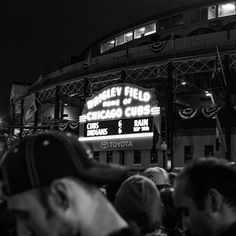 Taken just before one of the greatest finishes in #WorldSeries history. (📷: @adamjasoncohen) #Cubs #Cubbies #GoCubsGo #FlyTheW #HeyChicago (2/3)
