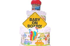 Baby On Board Diaper Cake  Car Diaper Cake by ImagineThatBaby #integritytt