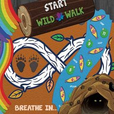 WILD WALK HALLWAY PATH - Get your kids moving and thinking as they jump, hop and swim their way to complete this path. This path can be spread out to 120 feet! Floor Decal, Floor Stickers, Sensory Activities, Sensory Play, Multi Sensory, Playground Painting, Sensory Pathways, Ib Classroom, Path Design
