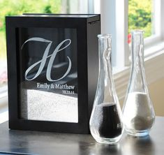 Unity Sand Ceremony Shadow Box Set | Sand Ceremony Frame Black and White