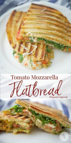 Panera Bread has changed the way they make their popular Tomato Mozzarella Flatbread but now you can make the original version at home. Dog Recipes, Sandwich Recipes, Copycat Recipes, Chicken Recipes, Cooking Recipes, Healthy Recipes, Vegetarian Sandwiches, Cookbook Recipes, Healthy Eats