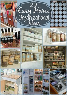 29 Easy Home Organizational Ideas